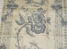 "Coraggio Textiles CHINOISERIES Fabric Remnant Linen Cotton 27.5 x 25.5"" France"