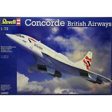 REVELL 1:72 scala BRITISH AIRWAYS CONCORDE aeromodellismo KIT - 04997