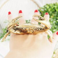 Bronson Brass Rustic Crab Mini 9cm Polished Hamptons Coastal Home Decor