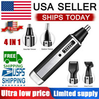 4in1 Personal Eyebrow Ear Nose Trimmer beard  Electric Shaver kit rechargeable