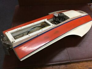 Beautiful Hydroplane Model Boat Made From Fiberglass Custom Vintage