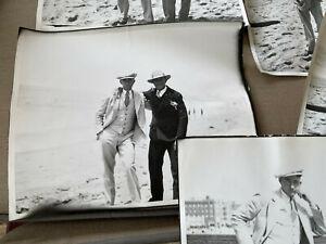 "5 Old Black White Photographs 8 x 10"" Men in Suits Beach Antique CALIFORNIA ??"