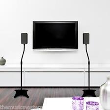 Pair (2) Home Studio Satellite Floor Standing SPEAKER STAND Mount Holder Bracket