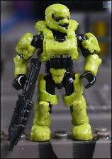 Halo Construx Mega Bloks Lime Green Unsc Spartan Soldier Mini Figure