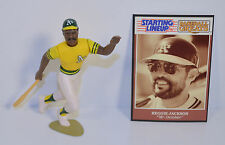 1989 Reggie Jackson #9 Yellow Jersey Oakland A's Starting Lineup Baseball