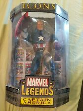 Marvel Legends Icons 12 inch Figure Unmasked Captain America ToyBiz