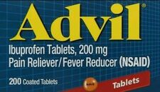 2x Advil Ibuprofen Tablets 200 mg - 200 Coated Tablets -NO BOX! (400 Tabs Total)