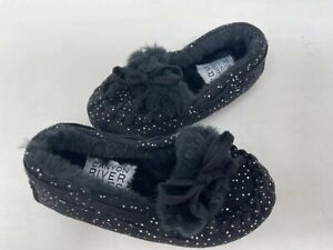 NEW! Canyon River Blues Toddler Girl's Chelsea Moccasin Loafers Blk #2239 130i r