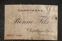 ancienne étiquette SANDEMAN Madeira madère label