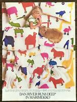 1981 Dan River Home Furnishings Print Ad Marimekko Sheets Rulla Pattern for Kids