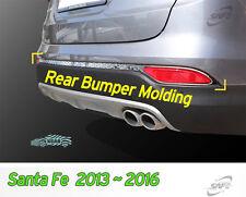 Rear Bumper Molding Chrome Garnish 5 Passengers for Hyundai Santa Fe 2013~2016