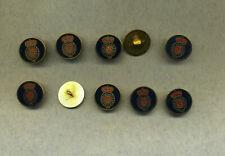 Ø 20,00 mm Knöpfe-10 Stück Braun-beige gemustert