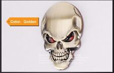 Autoaufkleber Metall Totenkopf PKW Styling gold