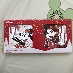 Disney Christmas Cards Mickey Minnie Mouse 20 Pack 4 Asstd Designs