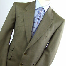 C&A Mens Brown Check Wool Vintage Suit Jacket 38 (Regular)