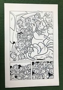 Looney Tunes Original Comic Book Art Foghorn Leghorn Eggbert Clown Car SIGNED