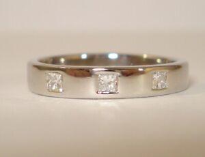 Platinum VS F/G Princess Cut Dia Trilogy Eternity Ring + £1,200.00 Valuation