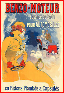 Automobiles Benzo Moteur Oil Lovely Art Deco Car Auto Motor French Poster Print