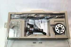DAIWA EXECUTIVE TRAVEL PACK W/ SPINNING REEL BW1355 FLY REEL 730 W/GRAPHITE ROD