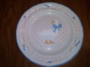 """Brickoven Stoneware Tienshan Aunt Rhody Ducks Salad Dessert 7 5/8"""" Plate"""