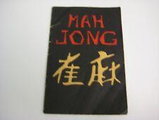 MAH JONG INSTRUCTION BOOK CIRCA EARLY-MID 1920'S BY BOTWEN PTG. CO., N.Y.