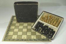 antikes SCHACHSPIEL mit gedrechseltem Figurensatz & Verpackung um 1930