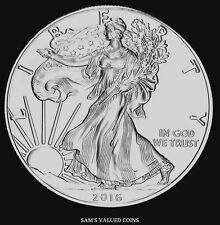 2016 - Sets of Two -  $1 American Silver Eagle Uncirculated Coins - 1 OZ Silver
