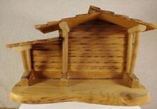 PRECIOUS MOMENTS NATIVITY WOODEN MANGER STABLE BY ENESCO!