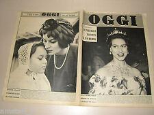 OGGI=1959/18=PRINCESS MARGARET ROSE=DEER LODGE=RAFFAELE DE GRADA=CHARLIE CHAPLIN