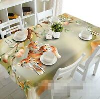 3D Lovely Tigers Tablecloth Table Cover Cloth Birthday Party Event AJ WALLPAPER