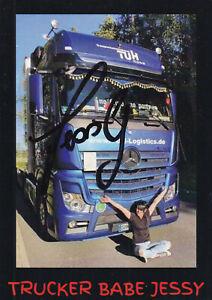 Jessy - Trucker Babe, Original-Autogramm!
