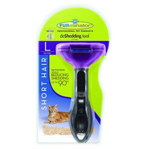 Furminator deShedding tool - Short hair removal tool for cats - Brand New