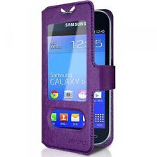Housse Coque Etui S-view Universel S Couleur Violet pour Samsung Galaxy Trend Li