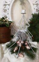 Kerzenhalter Kerzenständer Metall Weihnachten Shabby Vintage Christmas
