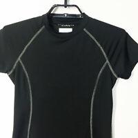 Columbia Omni Shade Sun Protection Womens Medium Shirt Top Built In Bra Black