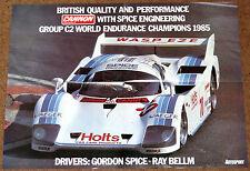 Gruppo C2 Spice Tiga cg85 POSTER-SPICE / Bellm 1985 GRP C2 CHAMPIONS