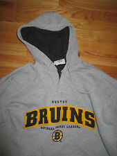 LEE Sport BOSTON BRUINS Hooded (MED) Sweatshirt w/ Twilled Stitched Letters