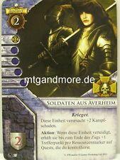 Warhammer Invasion - 2x Soldaten aus Averheim  #027 - Fragmente der Macht