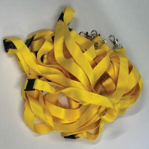 Yellow Lanyards | Lanyard Neck Strap | Safety Breakaway | Metal Clip | Pack of 5