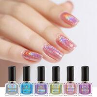 BORN PRETTY 6ml Light Sensitive Laser Nail Polish Glitter Nail Art Varnish Tips