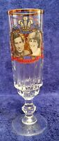 Prince of Wales Charles & Lady Diana Spencer 1981 Wedding Champagne Flute Glass