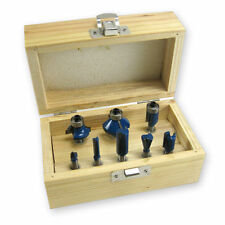 """8pc Router Bit Set 1/4"""" Shank Wood Carving Cutting Design Tungsten Carbide Tool"""