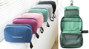Ladies Mens Wash Bag Travel Toilet Bag Hanging Toiletries Makeup Cosmetic Bags
