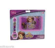 Portafoglio Principessa Sofia Originale Disney Borsello + Orologio Digitale