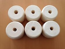 Six Pack of White Crab Pot Floats Lobster Shrimp Minnow Fish Trap Marker Buoy