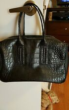 French Connection She's A Lady Black Satchel Bag