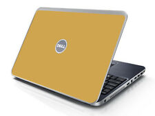 GOLD Vinyl Lid Skin Cover Decal fits Dell Inspiron 15R N5010 Laptop