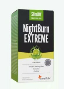 SlimJOY - NightBurn EXTREME - 4 In 1 Fat Burning Lime Flavour Drink - 10 Sachets