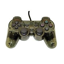 PS2 PlayStation 2 Wired Replacement Controller Transparent Black By Mars 2Z