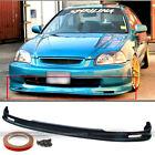 Fits 96-98 Honda Civic 2dr 3dr 4dr Jdm Polyurethane Mugen Style Front Bumper Lip